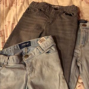 Old navy and cat and jack jeans 3T